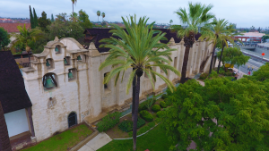 San Gabriel Mission East View from 75 feet
